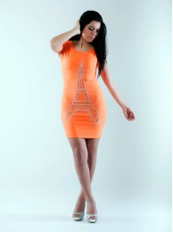 Neon Orange Kleid