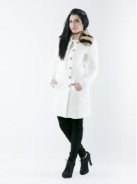 Mantel mit Echtpelzkragen