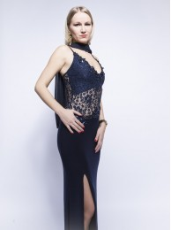Abendkleid dunkel blau