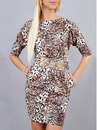 Kleid mit Leopard-Muster